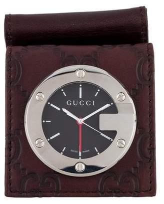 Gucci Guccissima Travel Alarm Clock