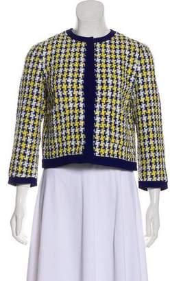 Miu Miu Textured Long Sleeve Blazer