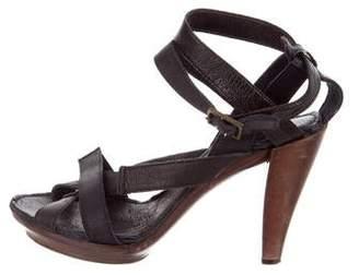 Lanvin Crossover Platform Sandals