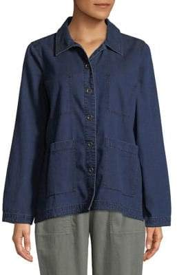 Eileen Fisher Boxy Denim Blouse
