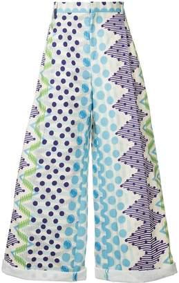 Walter Van Beirendonck Pre-Owned geometric printed loose-fit trousers