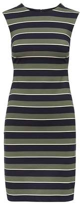 Banana Republic Stripe Ponte Sheath Dress