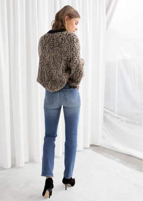 Leopard Knit Sweater