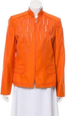 Versace Lightweight Embroidered Jacket