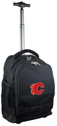 Mojo Outdoors Calgary Flames 19'' Premium Wheeled Backpack - Black - No Size