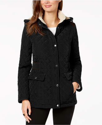 Laundry by Shelli Segal Fleece-Lined Hooded Coat