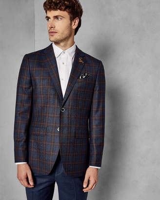 Ted Baker BELUSHJ Wool checked suit jacket