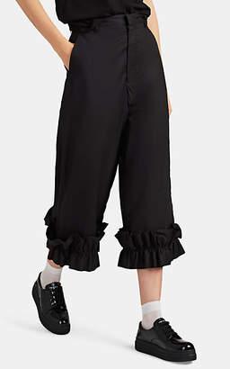 Noir Kei Ninomiya 6 MONCLER Women's Ruffled Cotton Crop Wide-Leg Pants - Black