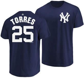 Majestic Men Gleyber Torres New York Yankees Official Player T-Shirt