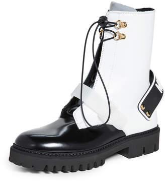 Moschino Combat Boots