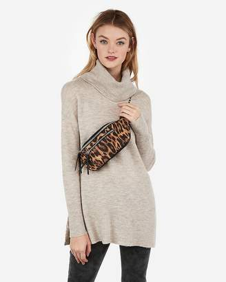 Express Leopard Print Chain Strap Belt Bag