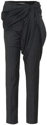 Y/Project Striped wool-blend pants