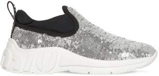 Miu Miu 10mm Sequined Slip-On Sneakers