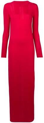 Barrie long knitted slit dress