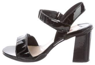 Prada Sport Patent Leather Ankle Strap Sandals