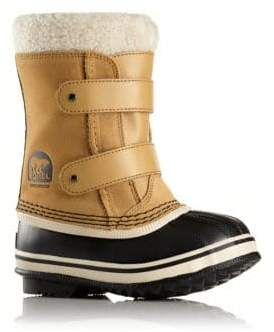 Sorel Little Kid's& Kid's 1964 Pac Faux Fur-Cuff Suede Snow Boots