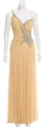 Terani Couture One-Shoulder Embellished Gown w/ Tags