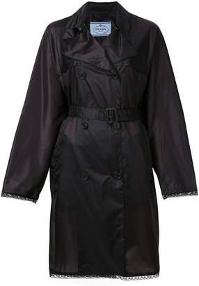Prada embellished belted trench coat