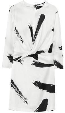 MANGO Contrast print dress