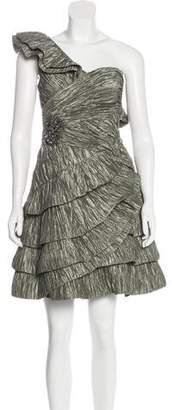 Pronovias Crepe One-Shoulder Dress