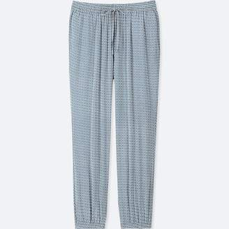 Uniqlo Women's Geometric-print Drape Jogger Pants
