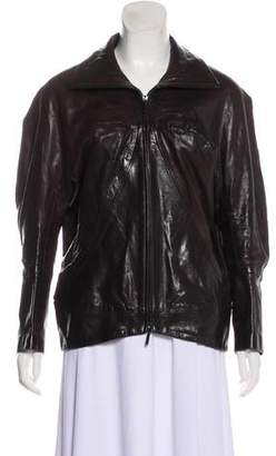 Zero Maria Cornejo Oversize Leather Jacket