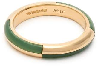 Marc Alary Deco 18kt Gold & Chrysoprase Ring - Womens - Yellow Gold