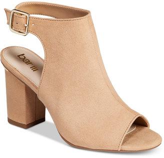 Bar Iii Marli Block-Heel Shooties, Only at Macy's Women's Shoes $89.50 thestylecure.com