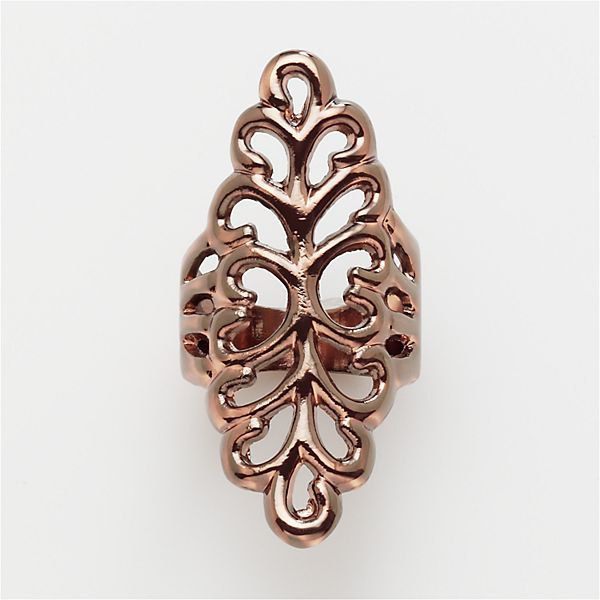 Daisy fuentes® bronze-tone etched ring