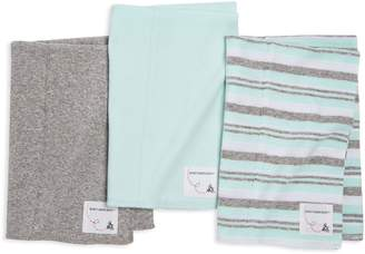 Burt's Bees Extra Absorbent 3 Pack Organic Stripe Burp Cloths