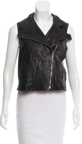 Alexander WangAlexander Wang Leather Moto Vest