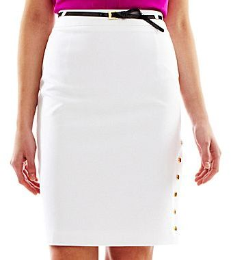 JCPenney Worthington® Side-Snap Pencil Skirt - Petite
