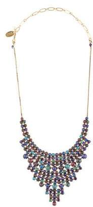 Erickson Beamon Crystal Hyperdrive Tiered Drop Collar Necklace
