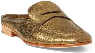 Ralph Lauren Ashlyn Metallic Loafer Mule