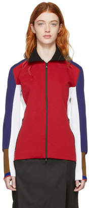 Marni Red Colorblock Zip-Up Jacket