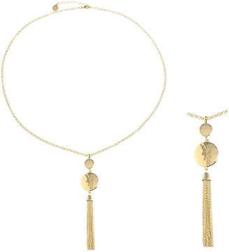 Liz Claiborne Womens Round Pendant Necklace