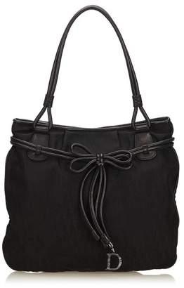 Christian Dior Vintage Oblique Jacquard Tote Bag