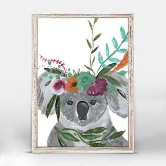 Bungalow Rose Casey Boho Koala Mini Framed Canvas Art