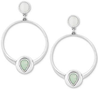 Lucky Brand Silver-Tone & Stone Drop Earrings
