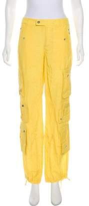 Ralph Lauren Black Label Mid-Rise Silk-Blend Pants