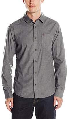 Tommy Hilfiger Men's Original End on End Long Sleeve Button Down Shirt