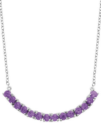 Lord & Taylor African Amethyst Pendant Necklace $140 thestylecure.com
