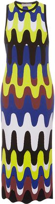 Emilio Pucci Sleeveless Retro Print Sheath Midi Dress $2,660 thestylecure.com