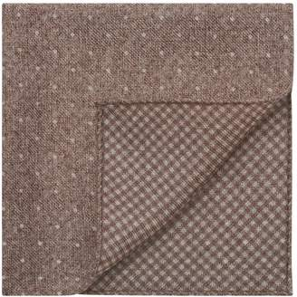 Reiss JULIAN DOUBLE SIDED POCKET SQUARE Taupe