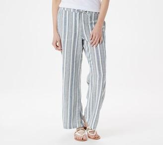 Denim & Co. Petite Line Blend Pull-On Pants