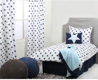 Bacati Stars Ikat Muslin Toddler Sheet