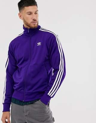adidas firebird track jacket in purple