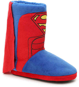 Ground Up Superman Toddler & Youth Boot Slipper - Boy's