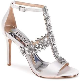 Badgley Mischka Women's Munroe Embellished Satin High Heel Sandals