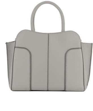 Tod's Grey Leather Handle Bag